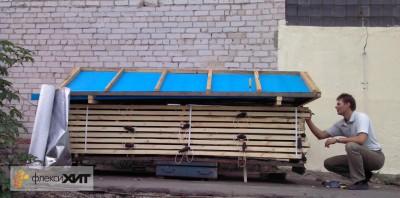 Бескамерная сушилка для быстрой и экономичной сушки древесины