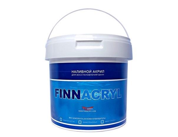 Акриловая эмаль для реставрации ванн Финакрил FINNACRYL